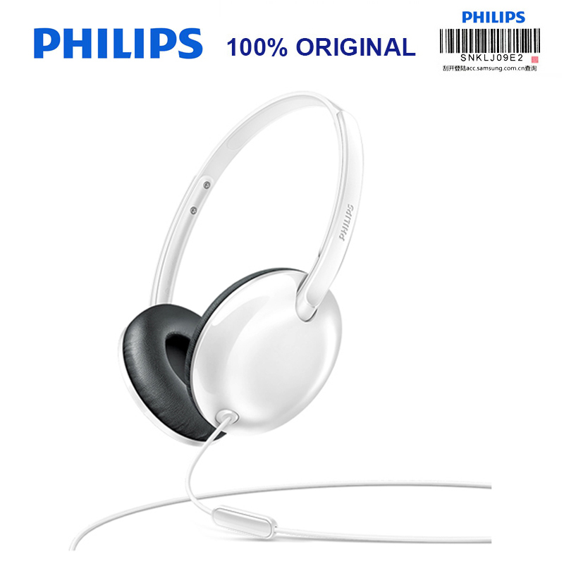 Philips SHL4405 Bass Wired Headphone with Microphone Wire Control Noise Reduction for Galaxy 8 Huawei Official Test philips shg7210 professional game headphones with microphone wire control headphone for xiaomi mp3 official verification