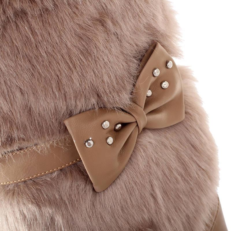 Sexy Chaud Arrivée mollet Noir Memunia Nouvelle Bowknot Femmes Talons Mi forme Bout Rond Bottes Chaussures Hauts 2018 D'hiver apricot Plate Femme blanc IxIw67qC