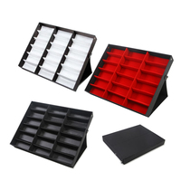 Samonica Useful 1pcs 18 Grid Glasses Display Box Sunglasses Storage Shelf Jewelry Display Props Sunglasses Display Rack