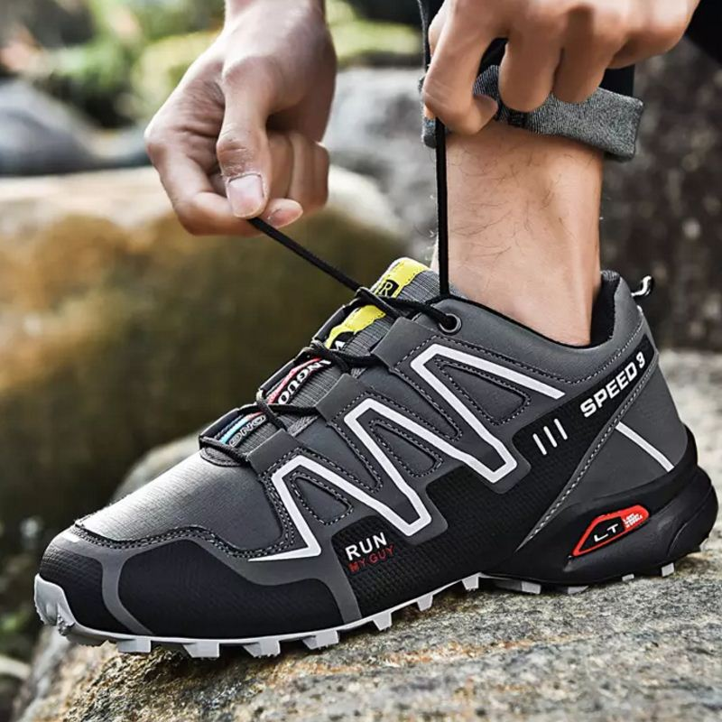 Tuyoki Hiking Shoes For Men Sport Men Sneakers Jogging Breathable Non Slip Zapatos Casual Outdoor Fashion Footwear Size 39 47 in Hiking Shoes from Sports Entertainment