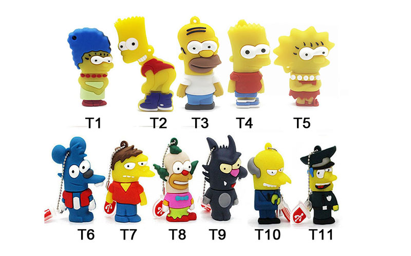 IsMyStore: JASTER Bart Simpson Mouse Wolf 4GB 8GB 32GB 64GB Memory Stick U Disk PenDrive Homer Pen Drive USB Flash Drive