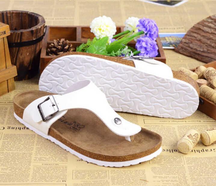 e48f79d9c6 Unisex Women Summer Shoes European Popular Brand Cork Sandals Flip Flops  Anti Slip Beach Sandals Cork Slippers