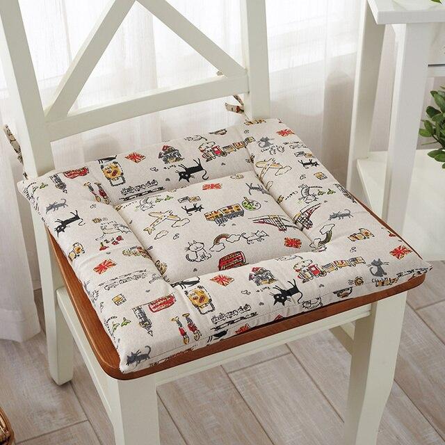 Summer Sponge Cloth Chair Cushion Automobile Meditation Cushion Family  Living Room Dining Chair Cushion Seat Pad