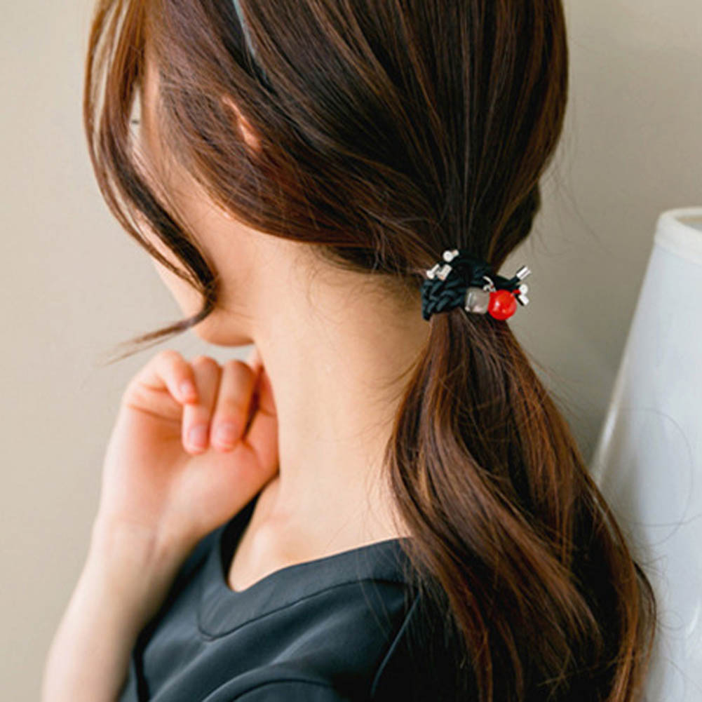 1pcs Fashion Lovely Women Girl Hairbands Candy Colored Hair Rope Elastic Bow Hairband Head Accessories Rubber Band