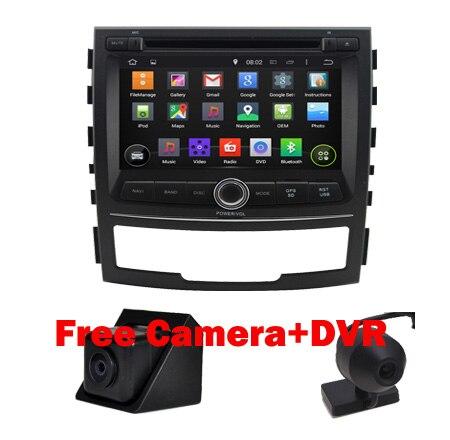 1024x600 Quad Core Android 5.1 Автомобильный DVD для SsangYong Korando GPS Wifi 3 Г Bluetooth Радио USB SD Управление Рулевого колеса Бесплатный камера + Карта