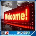 Бесплатная доставка одобренное се открытый программируемый из светодиодов 40 * 136 см из светодиодов дисплей p10 красный программируемый и прокрутка из светодиодов знак