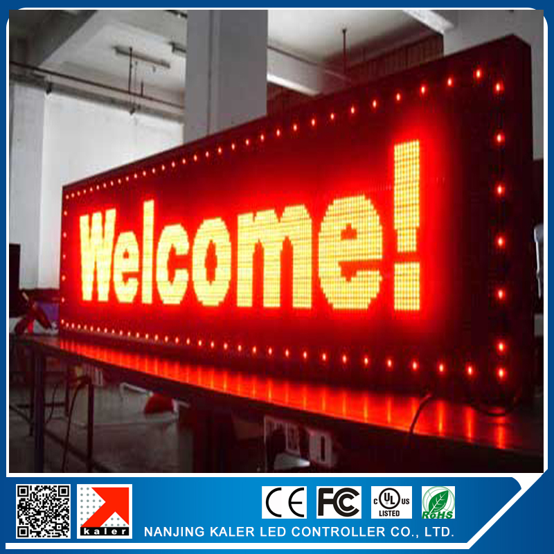 Free shipping CE approved outdoor programmable led screen 40*136cm led display p10 red programmable and scrolling led sign signage