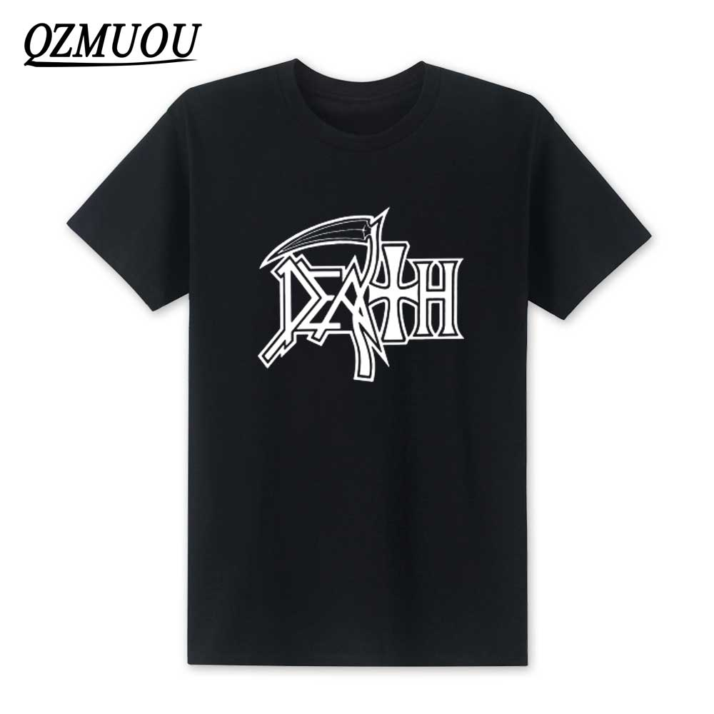 New 2019 DEATH T Shirts ROCK BAND HEAVY METAL Men Casual Round Neck Short Sleeve T Shirt Cotton Mans Top Tee High Quality XS-XXL
