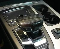 Carbon Fiber AT Gear Shift Knob Stick Decor Trim For Audi A4 allroad A5 Sportback Q5 B9 Q7 2016 18 Quattro Car styling