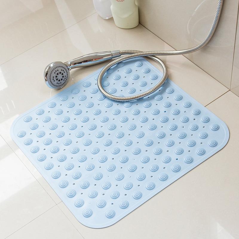 Bathroom Anti Slip Bath Matte Surface Drain Hole Mat Bath