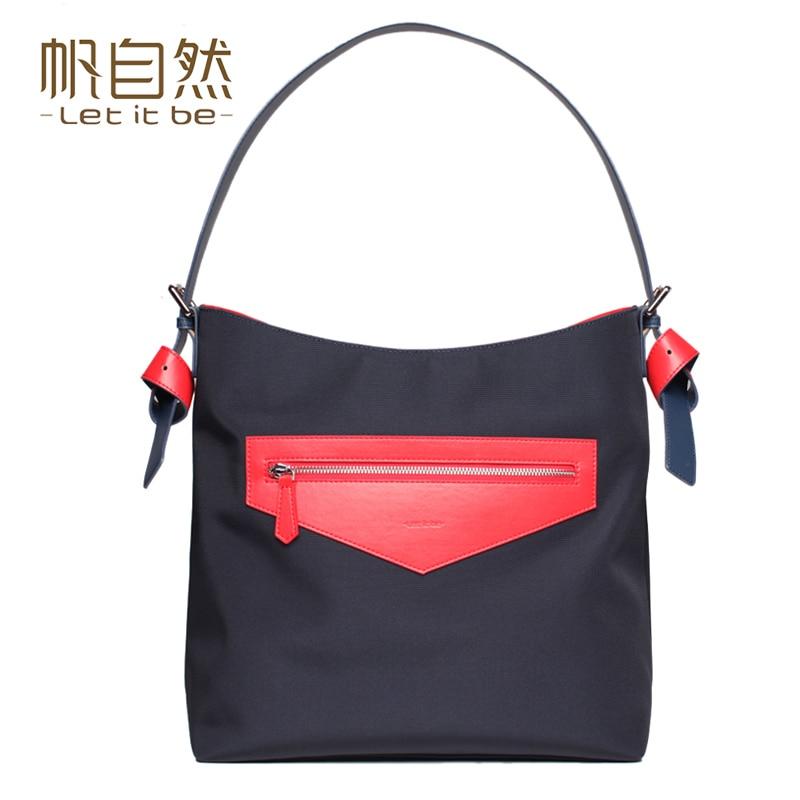 ФОТО 2016 Let it be wide strap women shoulder bag oxford nylon casual women bag waterproof big bag for girls designer bolsas feminina