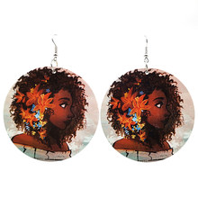 YD&YDBZ Fashion Wood Earrings For Women Sexy Ladies Printing Big Drop Earrings Harajuku Gothic Ethnic Style Jewelry Party Gifts(China)