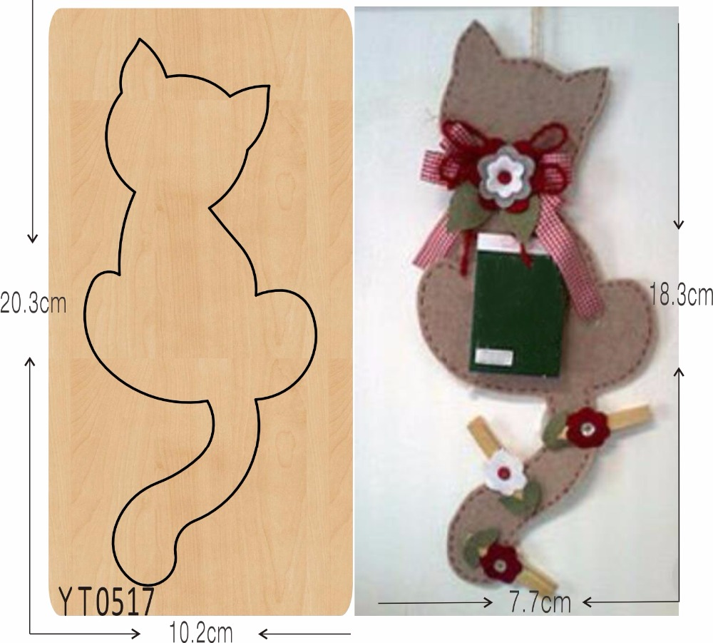 Cute cat DIY new wooden mould cutting dies for scrapbooking Thickness 15 8mm YT0517