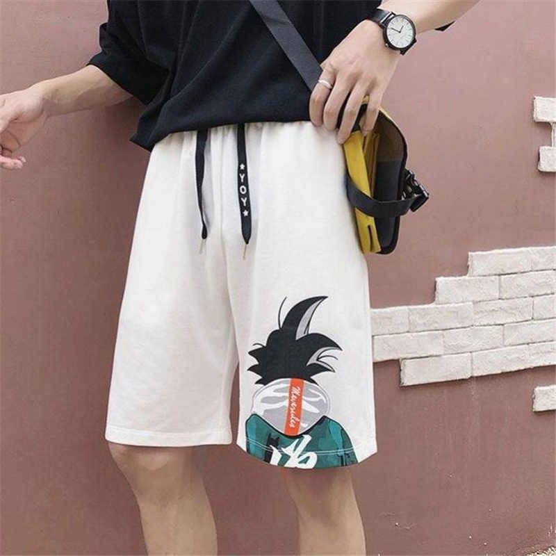 Casual Male Summer Fasion Harajuku Dragon Ball Mens Shorts Work Shorts Mens Sport Fitness Cartoon Male Shorts Beach Shorts Boys