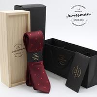 2016 neck tie man slim wedding necktie male 6cm mariage kravat gent waterproof red neckwear husband boy friend gift wool box