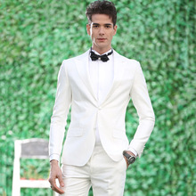 Men Suits Ivory Wedding for Man Groom Tuxedos Groomsmen Blazer Peaked Lapel 2Piece Costume Homme Custom Terno Masculino