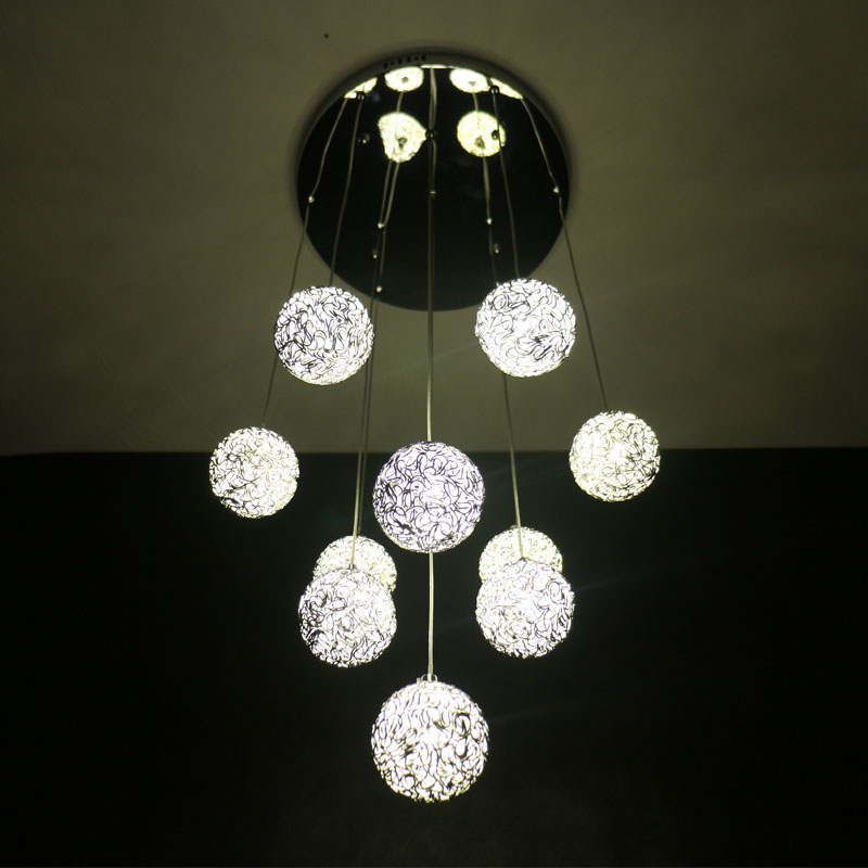 Led chandelier modern simple chandelier creative art for Mercatone uno lampadari