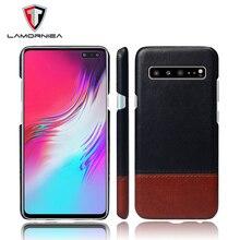 Lamorniea For Samsung S10 Plus Case PU Leather Back Hard Cover S8 S9 A6 A8 2018 C9 Pro C10