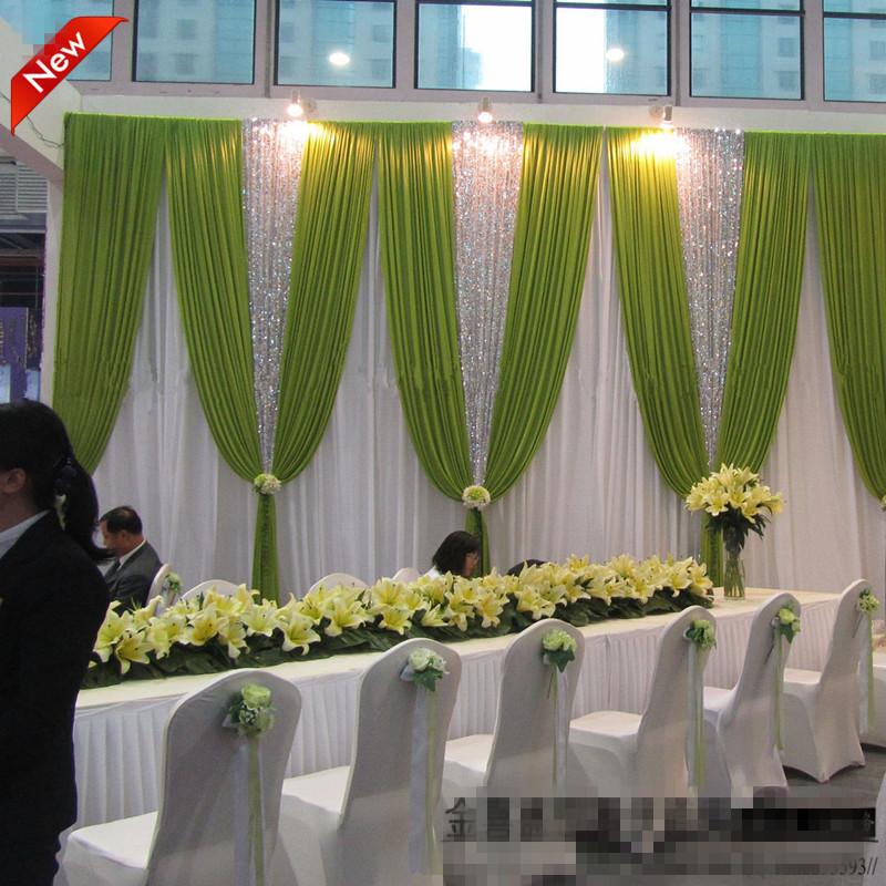 livraison dhl romantique populaire de mariage butin rideau drap de mariage dcors 20ft w - Bon De Reduction Decoration De Mariage