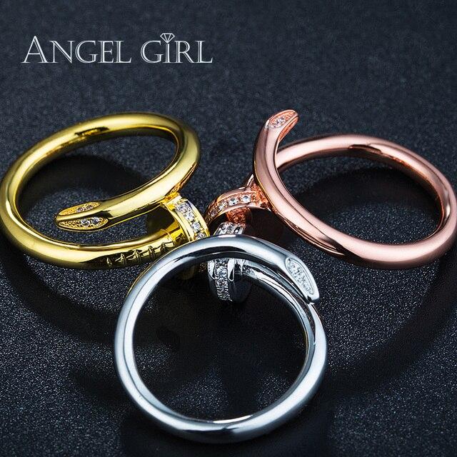 Diseño único AAA + Cubic Zirconia Blanco/Rosa/color Oro Anillos de ...