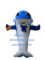 ים כחול דולפין קמע תלבושות דמות מצוירת star מותאם אישית בגודל מבוגר קוספליי קרנבל תלבושות 3522