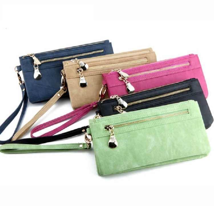 2019 billeteras de cuero de gran capacidad para mujeres de moda bolso con cremallera grande para mujeres bolso de dinero para teléfono bolso de mano welet