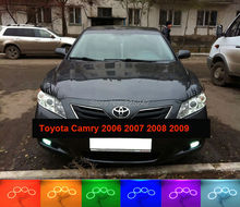 For Toyota Camry XV40 2006 2007 2008 2009 Altise Excellent Angel Eyes Multi-Color Ultra bright RGB LED Angel Eyes kit Halo Rings(China)