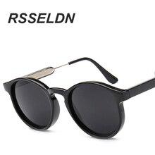 RSSELDN Frauen Marken designer Sonnen brille Runde ille Gespie gelte brculos De Sol Feminino Round Sunglasses UV400