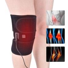 Ogrzewanie ochraniacze na kolana orteza stawu skokowego podkładki podtrzymujące termiczna terapia cieplna Wrap gorący kompres masażer do kolan na skurcze zapalenie stawów ulga w bólu