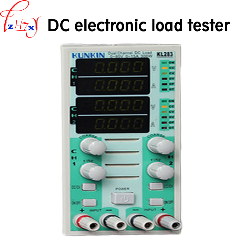 Dual channel dc electronic load tester KL283 DC electronic load tester testing and aging of products such as LED drives 220V Dual channel dc electronic load tester KL283 DC electronic load tester testing and aging of products such as LED drives 220V