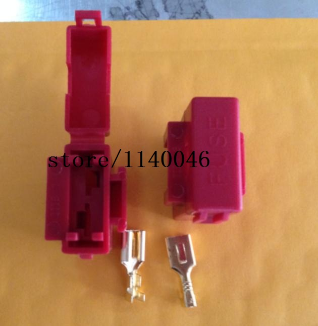 popular car fuse connector buy cheap car fuse connector lots from bx2017 insurance piece socket connector red nylon car fuse box insurance