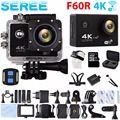 Seree 4K WIFI Remote Sport Camera 1080p HD Gopro SJCAM Style Helmet Camera 30M Waterproof Sports Car DVRs Camera for SJCAM