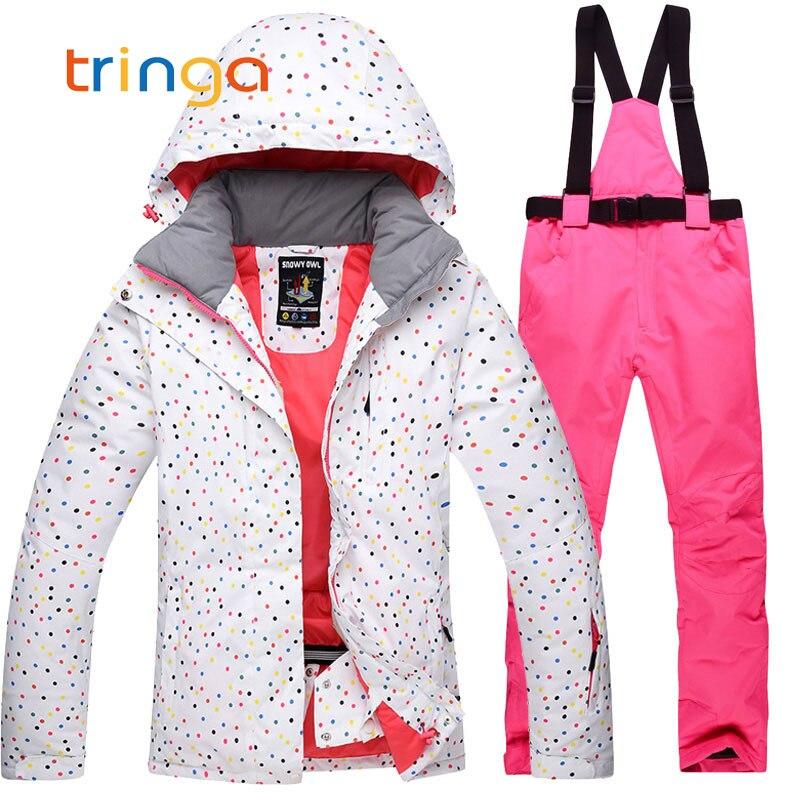 Hiver extérieur femmes Ski costumes snowboard vestes + pantalon de Ski deux pièces femme respirant coupe-vent imperméable ensembles de Ski