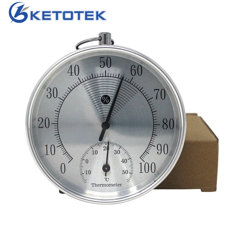10cm Indoor Temperature Humidity Meter Analog Thermometer Hygrometer 0-100RH -15-55C