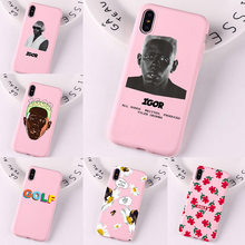 Para Iphone Golf Tyler the Creator igor álbum Color rosa suave cubierta para iPhone 11 Pro MAX Xs 8 7 6 6S Plus XS XR 5S funda de silicona(China)