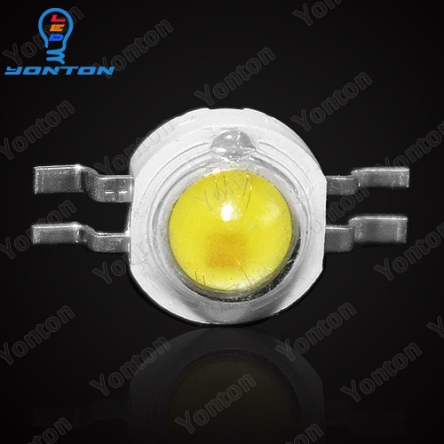 50pcs 2*3w Yellow white dual color high power led chip 700mA for Car Lighting