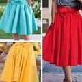 Summer Cute Skirt Bow Celebrity Saia Pleated Skirts Womens New Arrival Plus Size Women Clothing Elegant Party Midi Skirt