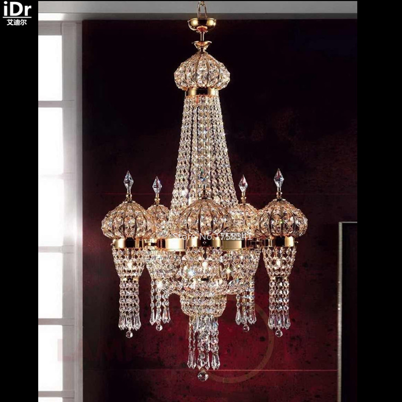 chandeliers crystal light golden color cheap lamp lighting bedroom lamp study hall d65cm x h100cm cheap contemporary lighting