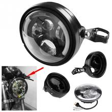 7Inch Refit Round Motorcycle H4 Headlight Headlamp with font b Lamp b font Housing and Headlight