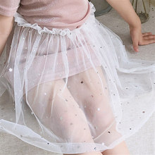 Infant Baby Girl Button A Line Skirts Party Slim Jean Skirt Princess Pageant Skirt Baby Girls Autumn baby girl jeans skirt цены онлайн