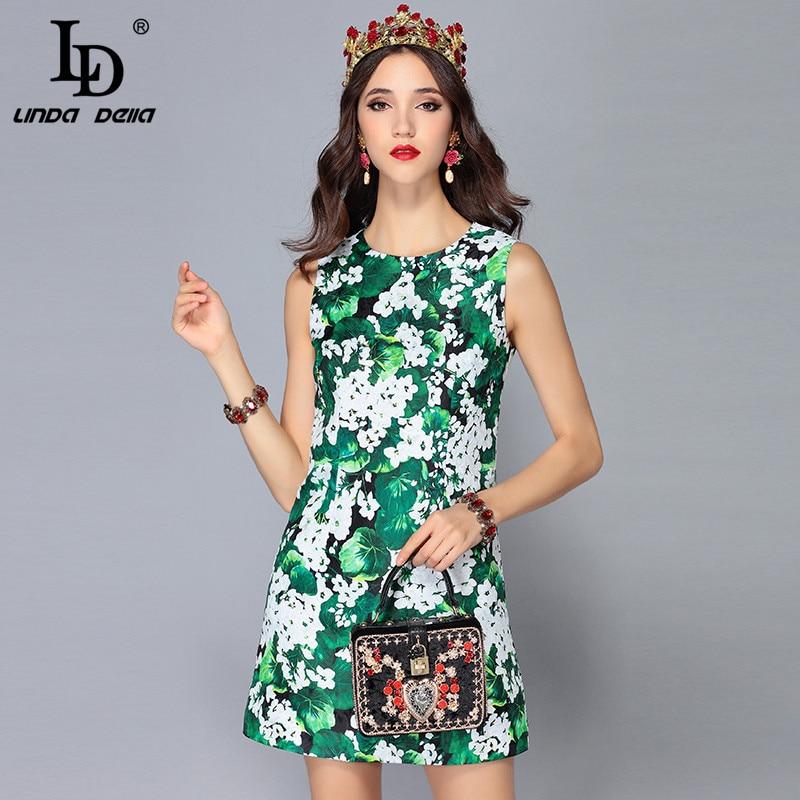 53c4b418a387c LD LINDA DELLA 2018 New Fashion Runway Summer Dress Women's ...