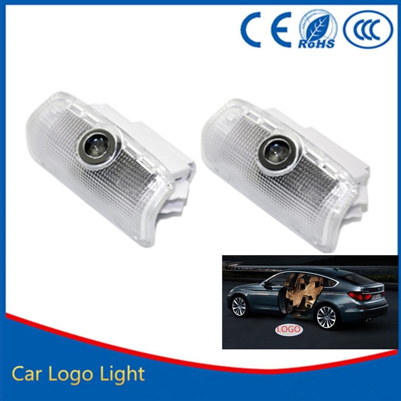 2pcs car door light ghost shadow welcome light logo projector emblem For Nissan Patrol стоимость