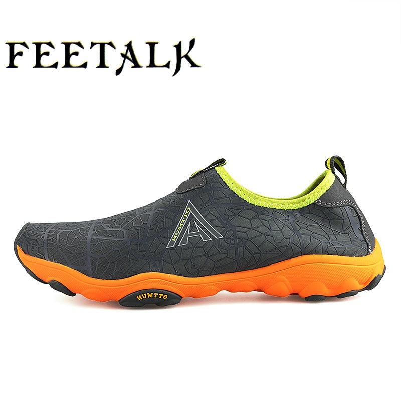 HUMTTO Mens Outdoor Trekking Hiking Sandals Water Shoes For Men Fishing Aqua Wading Climbing Mountain Shoes Sneakers Man