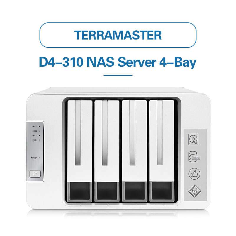 TerraMaster Original D4-310 USB3.0 Type C 4-Bay <font><b>RAID</b></font> <font><b>Enclosure</b></font> Support <font><b>RAID</b></font> 0/1/Single Exclusive 2+3 <font><b>RAID</b></font> Mode Hard Drive <font><b>RAID</b></font> image