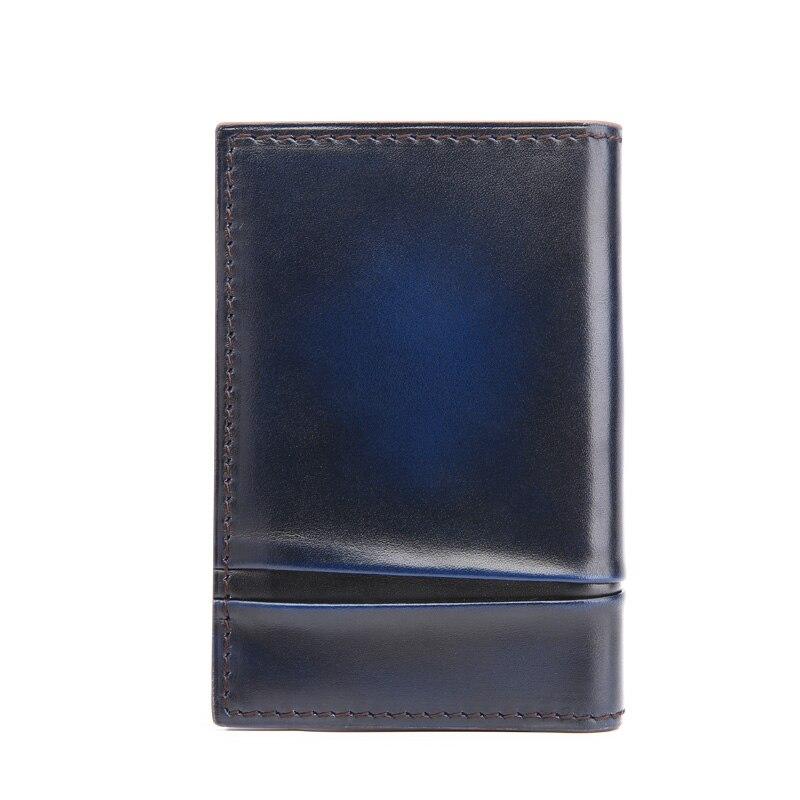 TERSE_2016 Hot Selling Card Wallet Men Handmade Leather Bag Genuine Leather Card Holder Dropshipping Service OEM\ODM