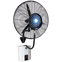 Wall mounted fan hanging Spray Fan Wall Cool Temperature atomization humidification with tank water spray shaking head fan 220V