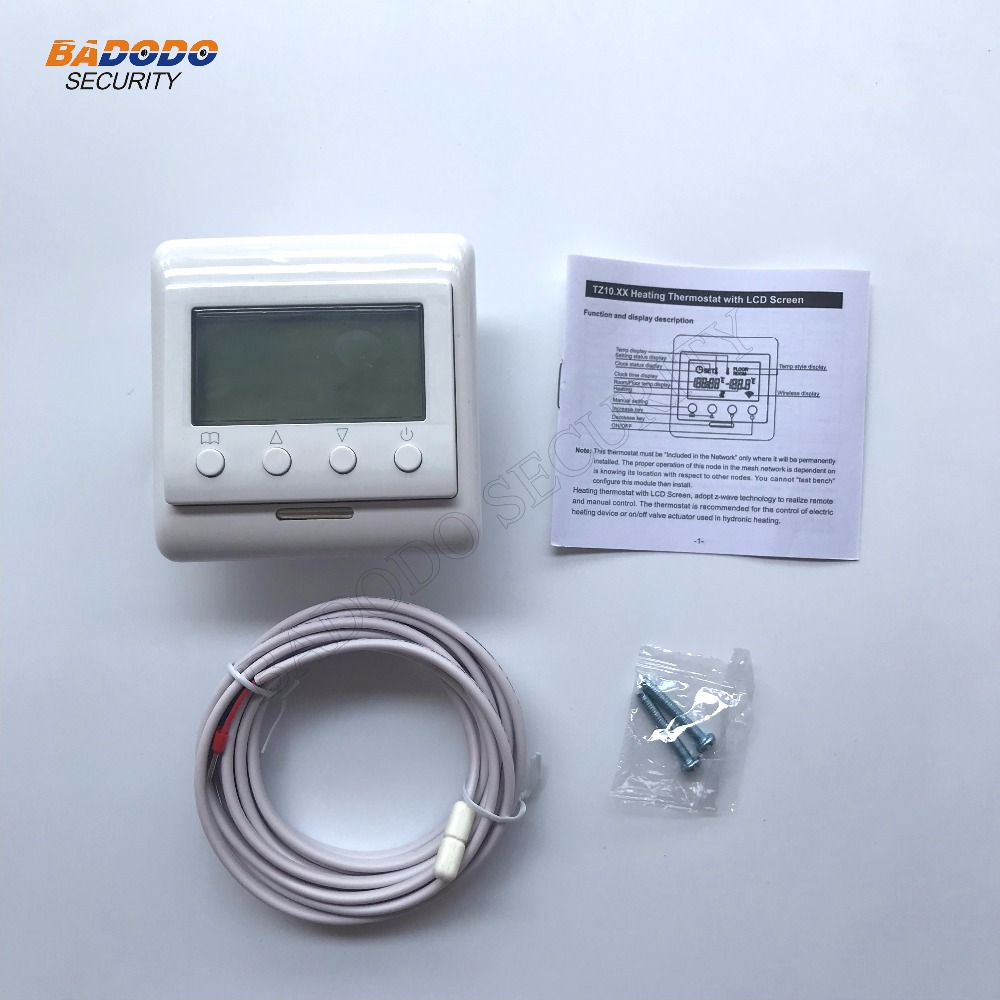 Smart Home Automation Zwave Thermostat For Floor Electric Heating Z