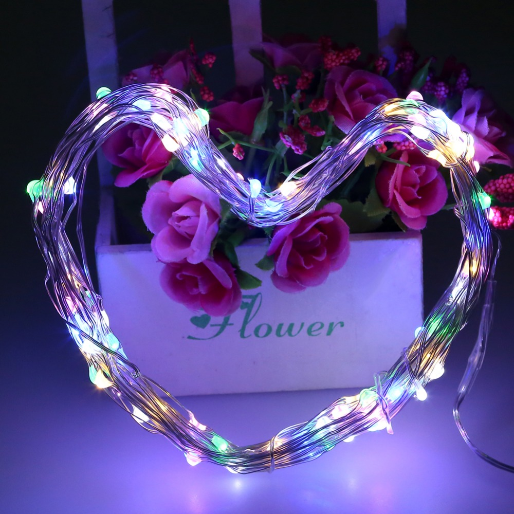 10 M 100 leds LED Dize Işık Gümüş Tel Peri Işıklar 12 V 1A - Şenlikli Aydınlatma - Fotoğraf 4