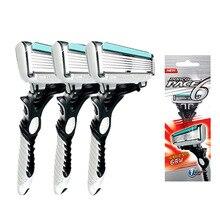 Персональные безопасные лезвия для бритвы из нержавеющей стали, оригинальные мужские лезвия для бритья DORCO Pace 6 слой лезвие бритвы для мужчин бритва