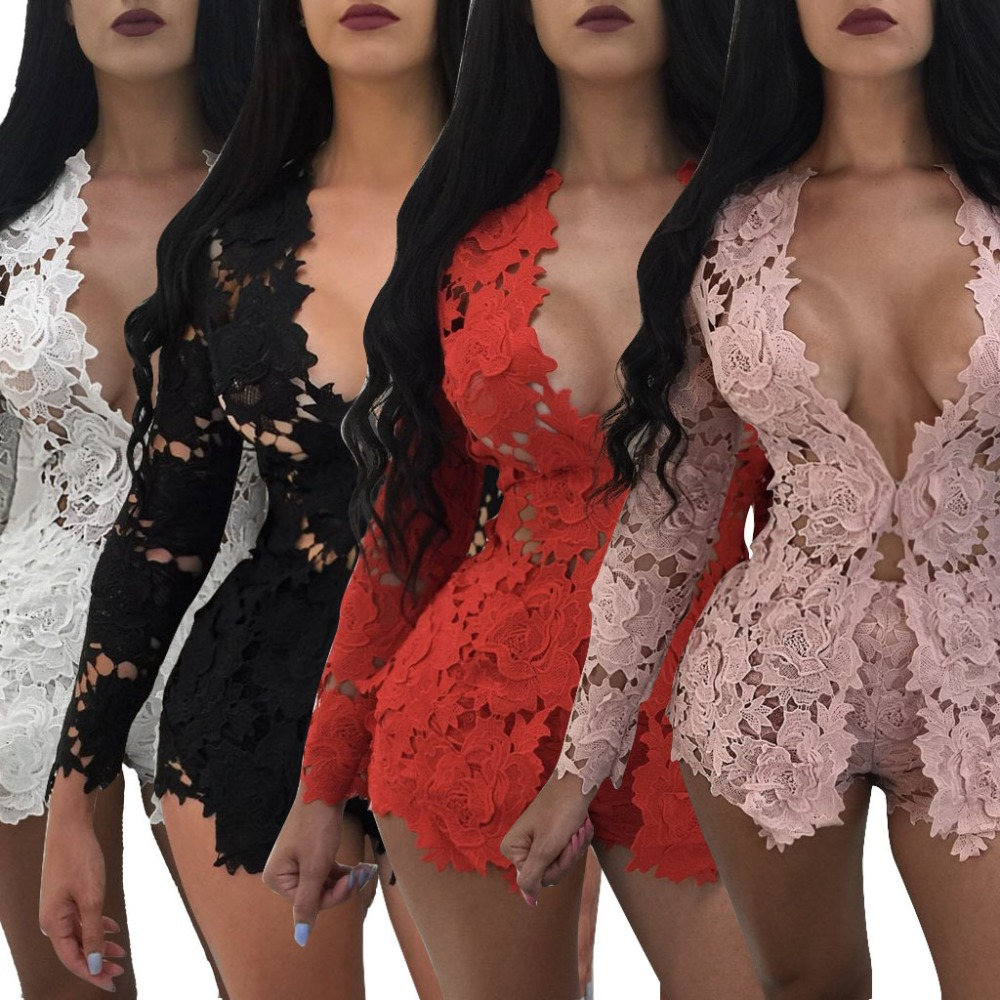 European fashion stylish white rompers women jumpsuit lace bodysuit clubwear brief overalls for women 3179 ...